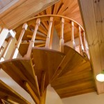 Sanctuary Tower Cedar Spiral Stair Case